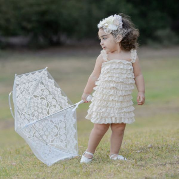 Free Shipping Western Flower Ivory Baby Lace Dress In Dresses From Mother Kids On Aliexpress Alibaba Group