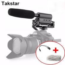 Takstar SGC-598 Fotografía Entrevista Micrófono para Youtube Vlogging Escopeta de micrófono MICRÓFONO para Nikon Canon DSLR Vídeo sgc 598