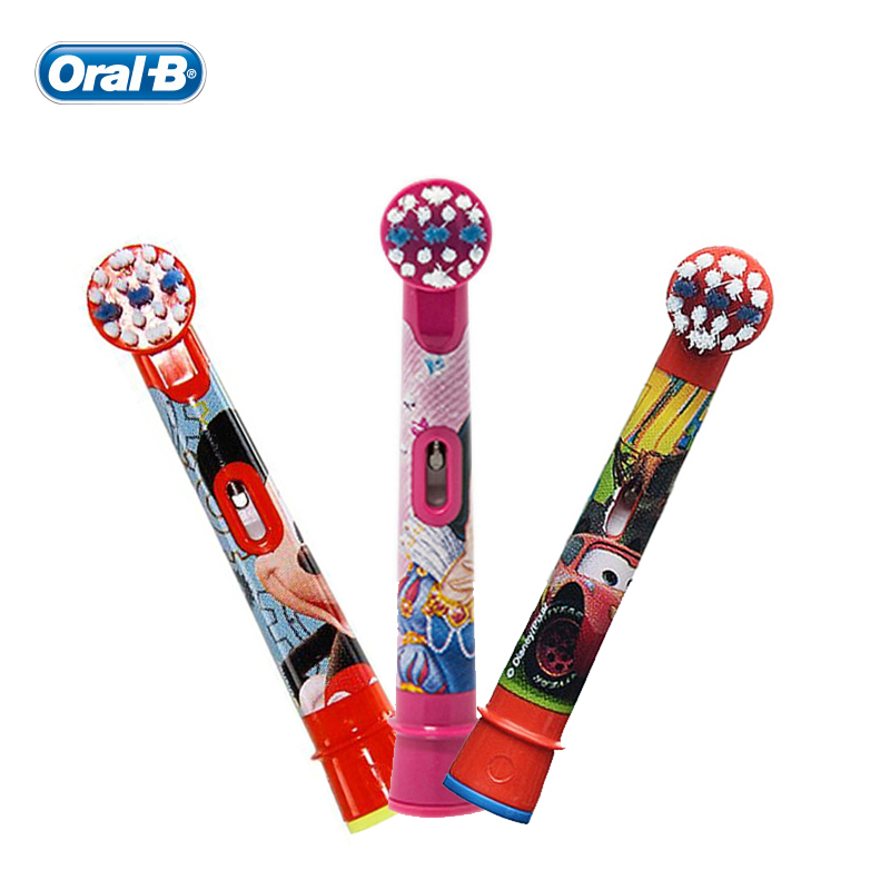 Oral B Children Electric Toothbrush Heads Replacement Brush Heads for Boys Girls Replaceable for Electric Teethbrush 2 Pcs/pack image