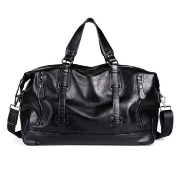 Travel Bags Black Shoulder Handbag Messenger Bag Tote Large-Capacity Portable Shoulder Bags Men's Fashion Travel Bags Package фото