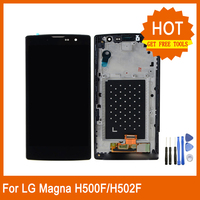 For LG Magna Lte G4C H502F H500F H500R H500N Original LCD Mobile Phone Screen H502 Display Monitor Touch Assembly with frame