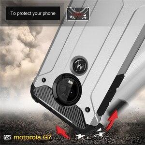 Image 5 - 10PCS מוקשח כיסוי עבור MOTO P40 הערה P30 כוח Z4 לשחק G7 בתוספת G6 E5 היברידי קשיח כפולה קשה שכבה שריון עמיד הלם טלפון מקרה