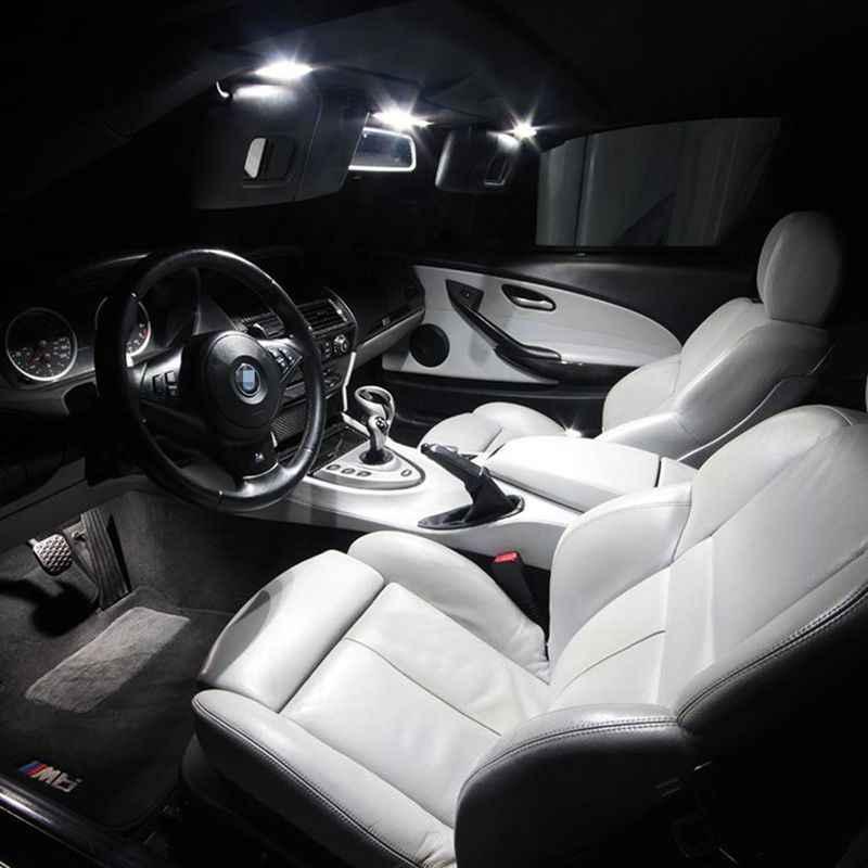 Edislight 20 Chiếc Xi Nhan CANBUS Led Xe Ô Tô Bóng Nội Thất Gói Bộ Dành Cho 1997-2003 Xe BMW Series 5 E39 M5 bản Đồ Dome Thân Cây Cửa Bảng Đèn