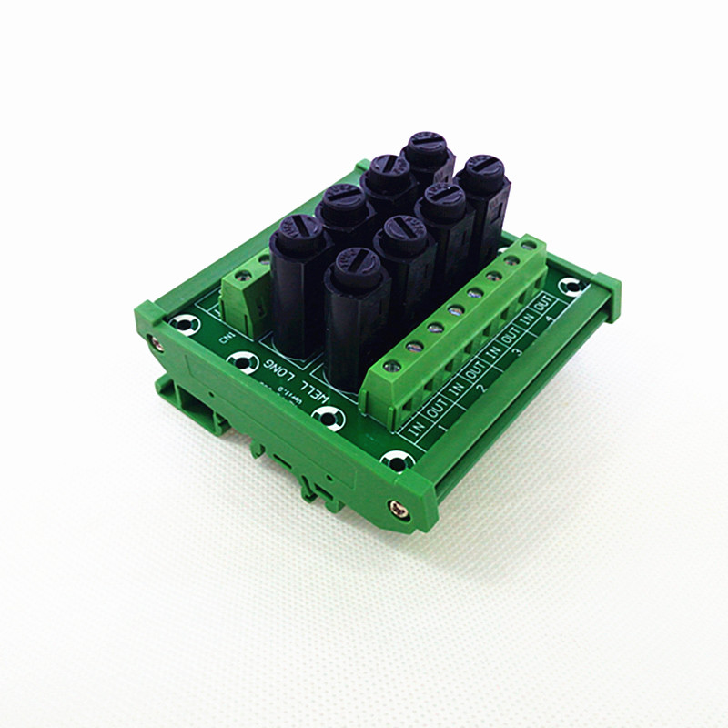 Fuse Module,DIN Rail Mount 8 Channel Fuse Power Distribution Module Board.
