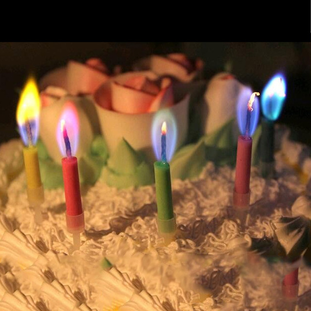 Birthday Candles For The Cake Colour Flame Candle Blowing Wedding Anniversary Happy