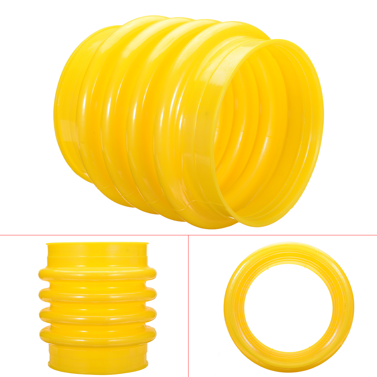 New Yellow Jumping Jack Bellows Boot 17.5cm For Wacker Rammer Compactor Tamper with 220mm Length