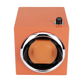 Watch Winder ,LT Wooden Automatic Rotation 1+0   Storage Case Display Box new style (orange)