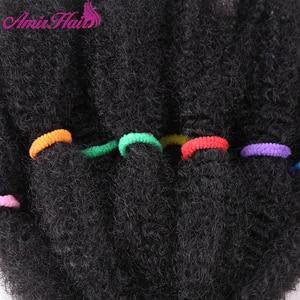 "Image 5 - Amir Mega Afro Kinky Twist Synthetic Hair 14 ""Crochet Braid Hairสำหรับผู้หญิงสีดำผม"