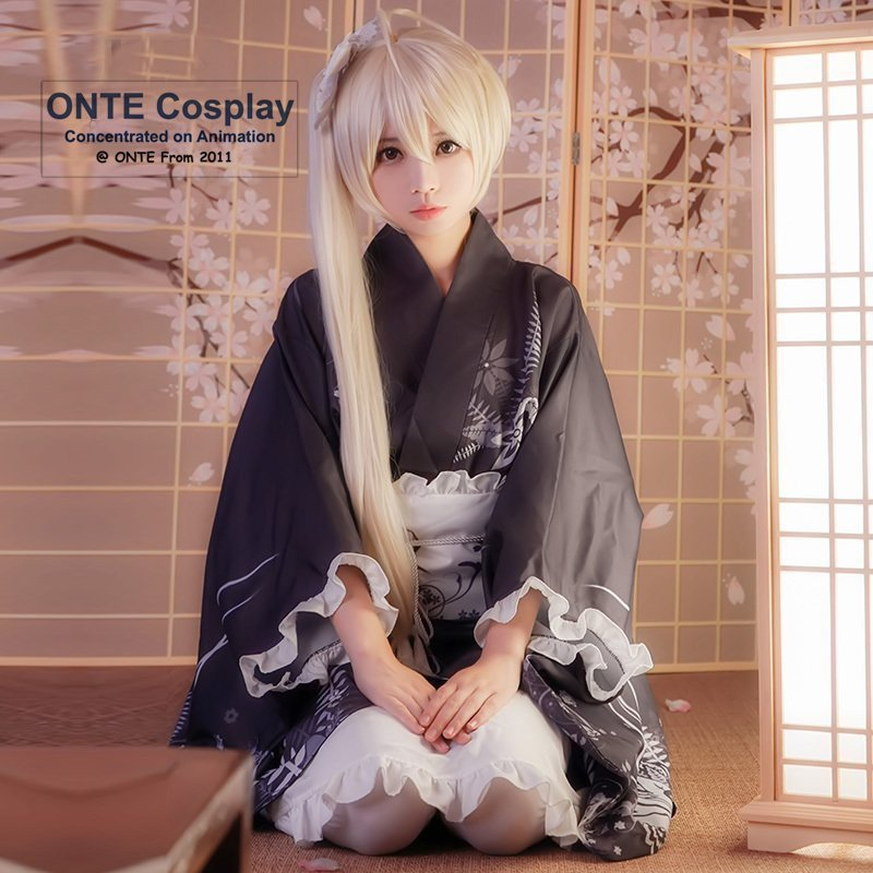 Anime Yosuga no Sora Cosplay Costumes Kasugano Sora Bathrobe Women Summer Fancy Party Kimono Set for Halloween