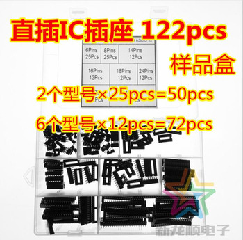 122Pcs 2.54mm Pitch DIP IC Sockets Double Rows Solder Type Adaptor Assortment Kit (6/8/14/16/18/24/28/40 Pins) - discount item  13% OFF Car Electronics