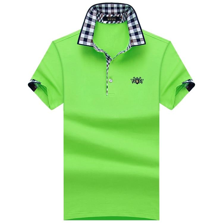 큰 남자 셔츠 2018 패션 남자 폴로 셔츠 여름 짧은 - 남성 의류 - 사진 2