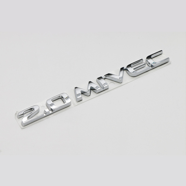 2 0 Mivec Logo 3d Chrome Abs Stickers Car Emblem Badge Rear Decals