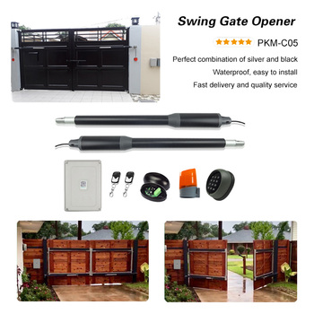 200KGS Automatic dual arms electric swing door gate Opener Operator Motor actuator closer swing gate opener for access control galo 200kgs engine motor system automatic door ac220v ac110v swing gate driver actuator perfect suit gates opener