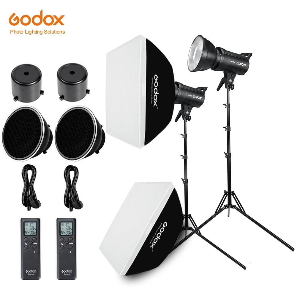 2x Godox SL 60W 60Ws 5600 K LED ต่อเนื่อง Photo Video + 2x1.8 m Light Stand + 2x60x60 ซม. Softbox LED Light Kit-ใน อุปกรณ์เสริมสำหรับสตูดิโอถ่ายภาพ จาก อุปกรณ์อิเล็กทรอนิกส์ บน AliExpress - 11.11_สิบเอ็ด สิบเอ็ดวันคนโสด 1