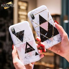 KISSCASE Geometric Marble Case For Galaxy Note 9 8 Simple Soft TPU Cover Samsung A5 J7 A3 2017 Emboss Coque Capa