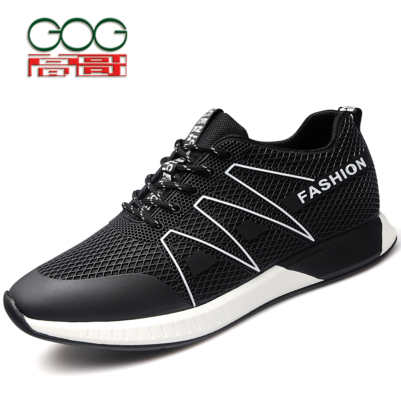 GOG  Increase Height 6cm/2.36 inch Men Elevator Shoe New Breathable Casual Trainer Hidden Height Increasing цены онлайн