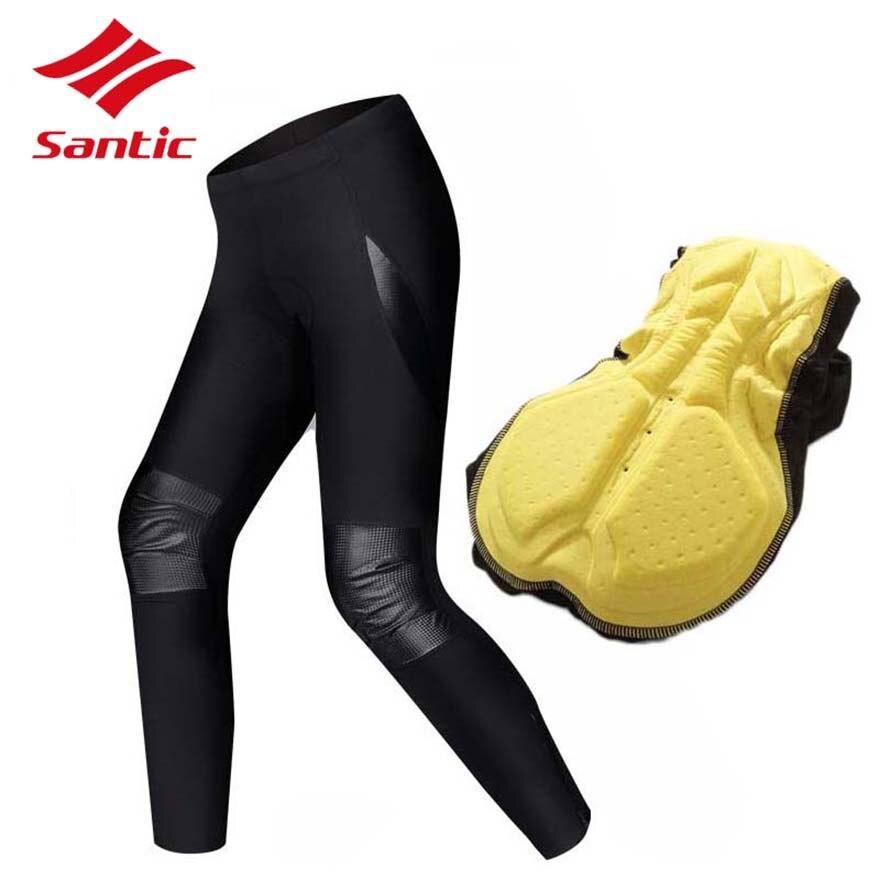 Santic Велоспорт брюки мужчины длинная зима Осень 2018 про ватные штаны велосипед MTB Дорожный велосипед горные брюки брюки брюки
