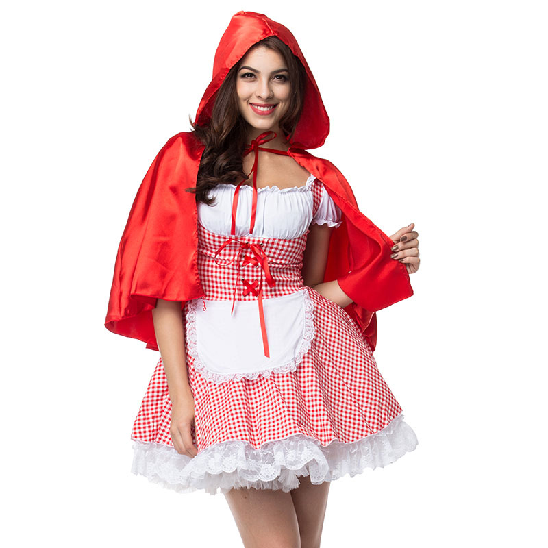 UTMEON Sexy Cosplay Little Red Riding Hood Fantasy Uniforms Halloween Costumes For Women Fancy Dress Plus size S-6XL