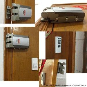 Image 5 - Installazione facile della porta di sicurezza della serratura astuta R W03 RAYKUBE controllo senza fili elettrico della serratura di porta con telecomando aperto & vicino