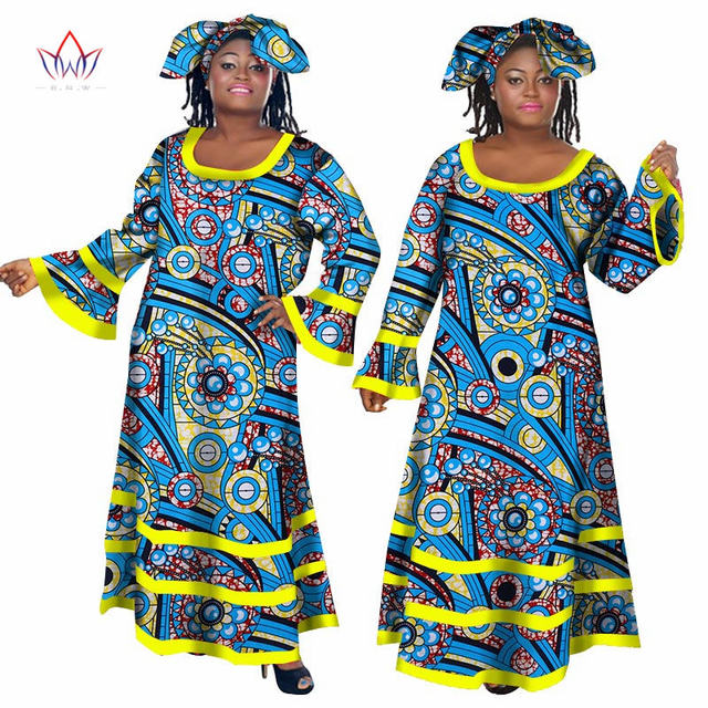 2019 Summer Bazin Dashiki African Dresses for Women Long Maxi Dress Private Custom Brand African Dresses for Women Africa WY434