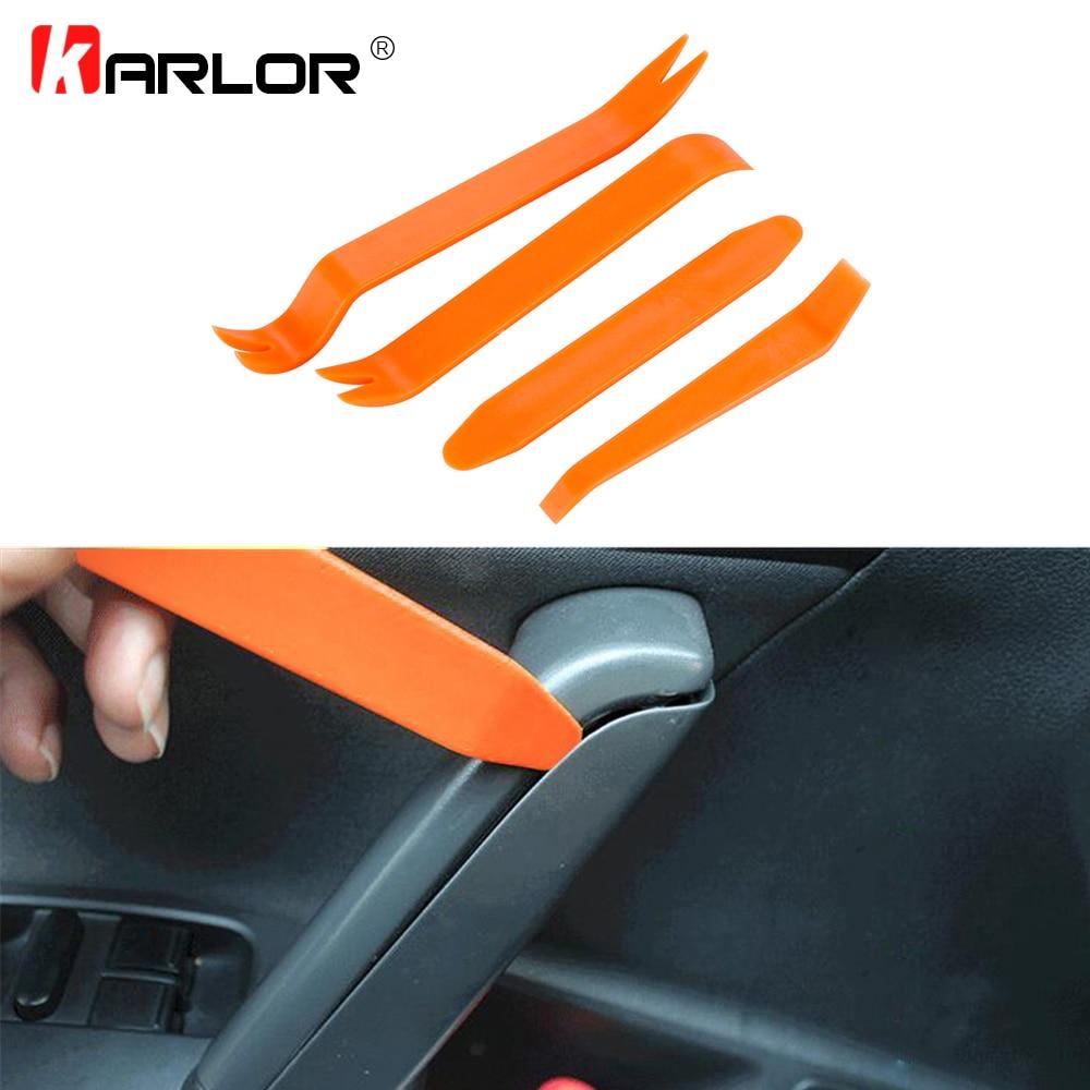 4Pcs Door Clip Auto Car Radio Panel Trim Dash Audio Removal Installer Pry Tool