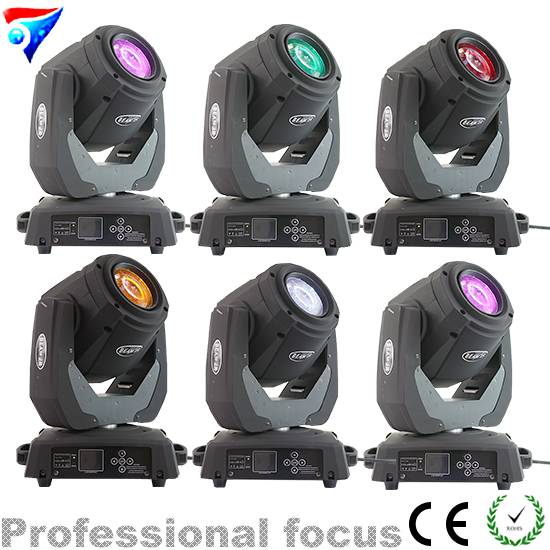Free Shipping 6pcs/Lot 120W Moving Head Light Sharpy Beam 2r Led Lights Dj Disco Club Party Wedding Stage Effect