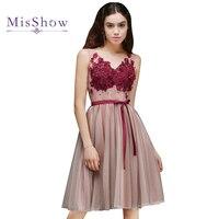 Ostatni! USA Rozmiar 12 w magazynie Różowy i Czerwony Krótki Prom Dresses 2018 Tulle Lace Up Sexy Wieczorne Party Suknia Vestido De Festa 2018