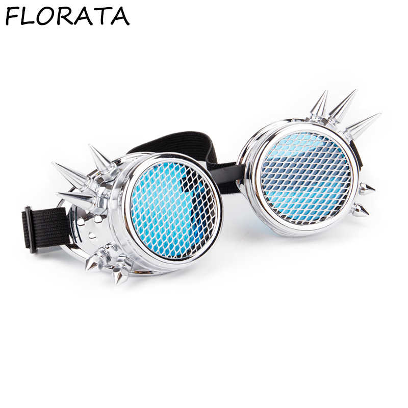 b58f07877a826 Detail Feedback Questions about FLORATA Hot Retro Unisex Goggles Steampunk  Glasses Welding Cosplay Sunglasses Vintage Victorian Eyewear Barbed Frames  on ...