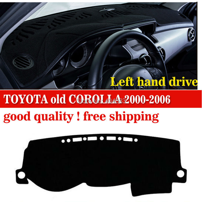 Car dashboard cover mat for TOYOTA old COROLLA 2000-2006 years Left hand drive dashmat pad dash mat covers dashboard accessories