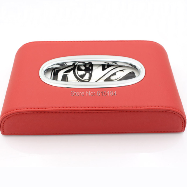 Car Tissue Box Paper Boxes Genuine Leather Accessories Holder Creative Car Accessories Bag Good Quality