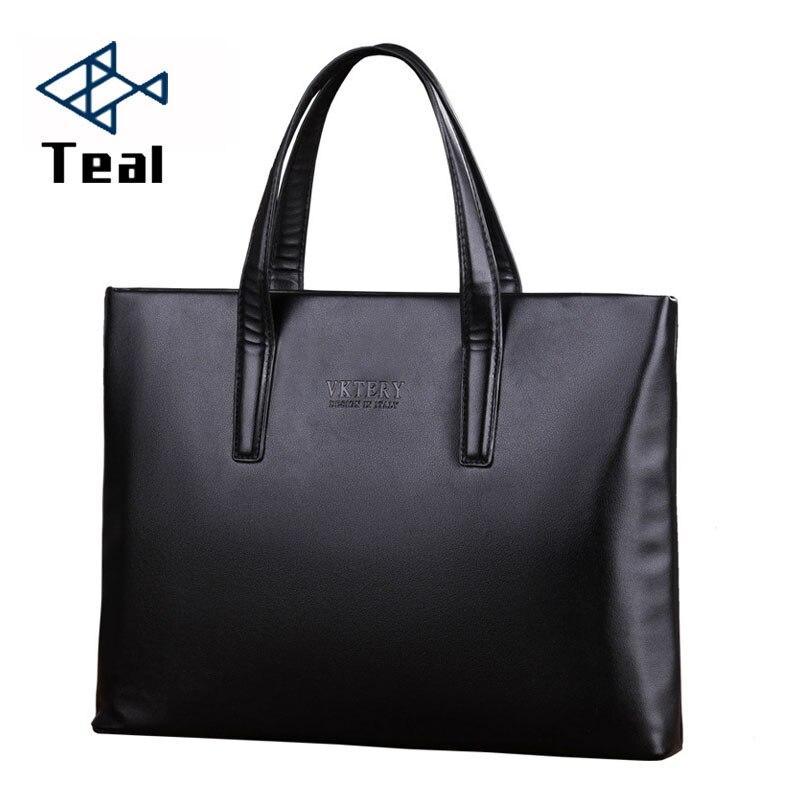 New Fashion Men Casual Briefcase Business Shoulder Leather Messenger Bags Computer Laptop Handbag Men's Travel Bags Handbags