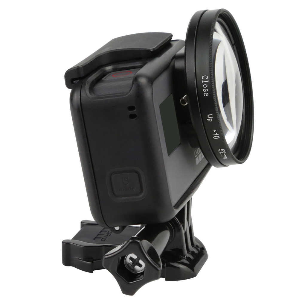 52mm Magnifier 10x Magnification Macro Close Up Lens for GoPro Hero 5 6 Black Action Camera Accessory for Go Pro Hero5