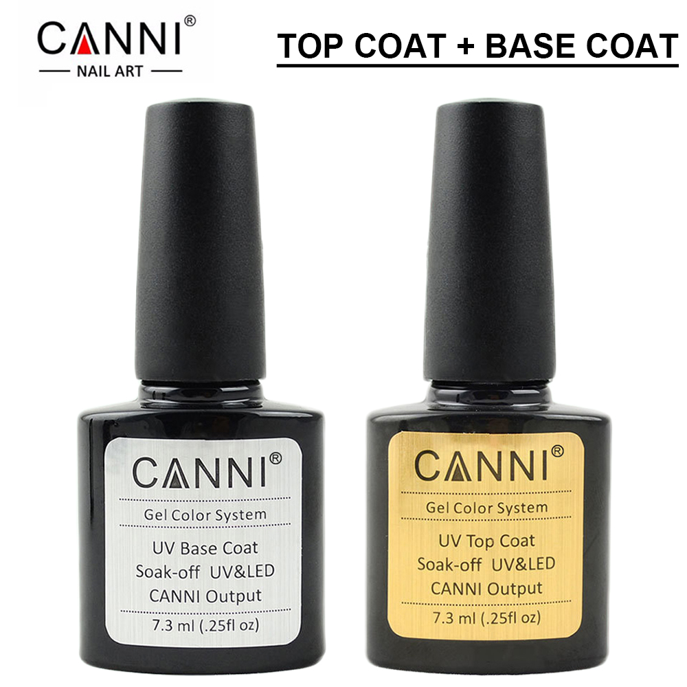 canni 7 3ml top coat base coat gel nail polish gel polish vernis esmalte semi permanent varnish. Black Bedroom Furniture Sets. Home Design Ideas