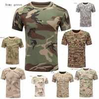 Zogaa Camouflage Military Tactical T-Shirt Multicam Camo Army Long Sleeve Hiking Climbing Shooting Outdoor Hunting Combat Shirts