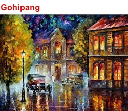 Gohipang abstract by car in the rain oil painting by numbers acrylic painting on canvas unique.jpg 250x250