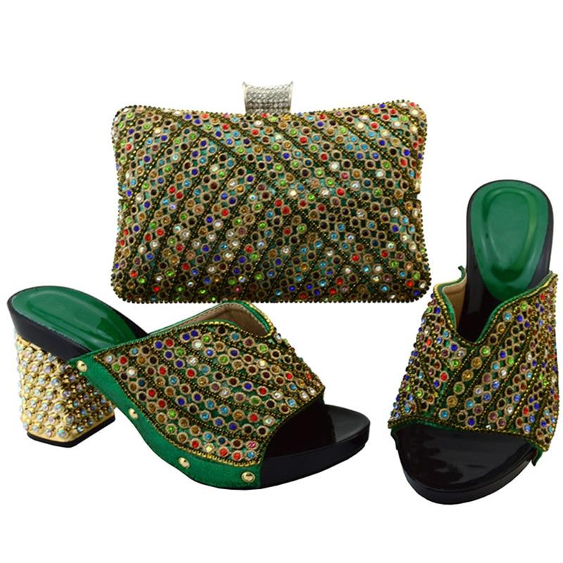 Real Italianas Nigeriano azul Y Mujeres Decorado Las Bolso Zapatos Negro Conjunto Oro Sistemas Set verde Rhinestone Color Con De rojo púrpura Señoras Bolsa Del oro gSYg47qwp