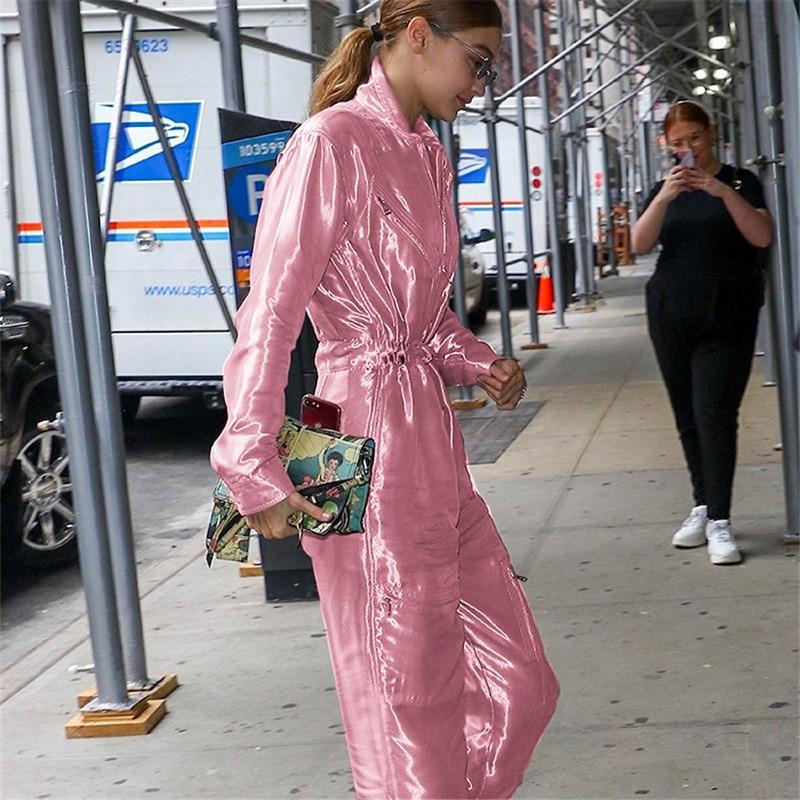 Ins Pink Nuevo Las Brillante De Slim Joker Mujeres Caliente Casual Gigi Rosa Invierno Sudaderas Brillo w6v4w0