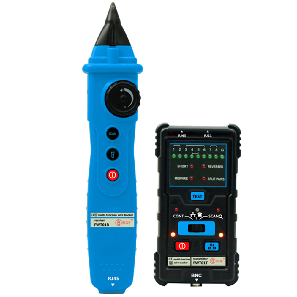 BSIDE FWT01 Wire Tracker Network LAN Ethernet Finder Multimeters Telephone Line Tester Multifunctional Handheld Cable Test Tool fwt01 network lan ethernet wire tracker finder detector