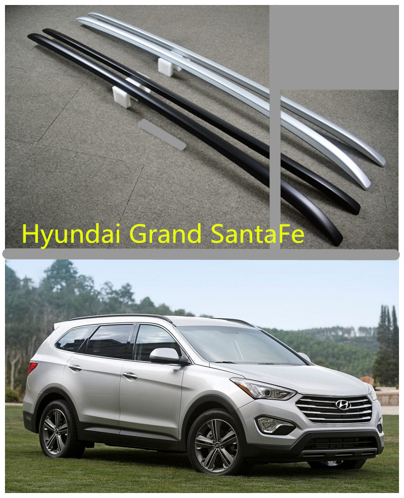 Auto Roof Racks Luggage Rack For Hyundai Grand SantaFe 2013.2014.2015.2016.2017 High Quality ABS Car Accessories  high quality abs chrome decoration interior garnish molding kit 17pcs for hyundai 2013 2016 santafe make in korea accessories