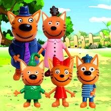 5 pièces/ensemble russe trois chats heureux kid e chats Cookie bonbons et pouding Action & figurines jouet cadeau de noël poupée pour les enfants