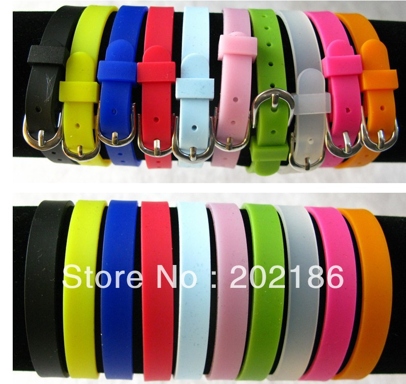 50pcs 8mm Diy Accessories Silicone Wristband Bracelet Fit Slide Charms Letters In Charm Bracelets From Jewelry On Aliexpress