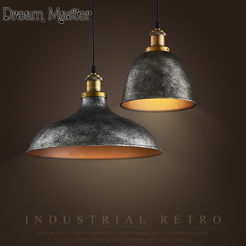 Nordic retro industrial wind iron Chandelier restaurant cafe bar creative single head Chandelier free shipping nordic retro industrial wind restaurant