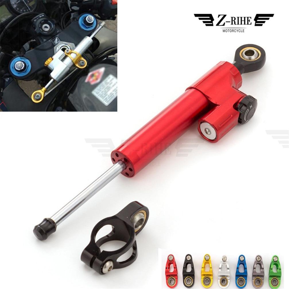 Motorcycle Adjustable Accessories Damper Stabilizer Damper Steering For SUZUKI GSF650 BANDIT GSX1250 F SA ABS GSX1400 GSX650F adjustable steering damper