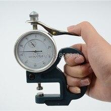 Прямая Портативный 10 мм циферблат толщина датчик измерительный прибор тестер ударопрочный толщиномер Калибр icrometer 0-10 мм 0,01 мм