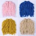 INS de nueva primavera niños ropa de bebé de algodón de dibujos animados patrón de suéter de la muchacha sin mangas sólido knitting tassel top cuatro colores