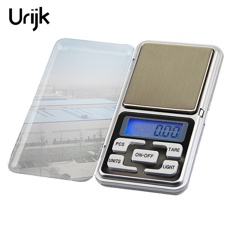 Urijk Mini Pocket Precision Digital Scales Electronic Jewelry Weight Scales 500g 0.01g Mini Libra High Accuracy Weigh Balance high quality precise jewelry scale pocket mini 500g digital electronic balance brand weighing scales kitchen scales bs