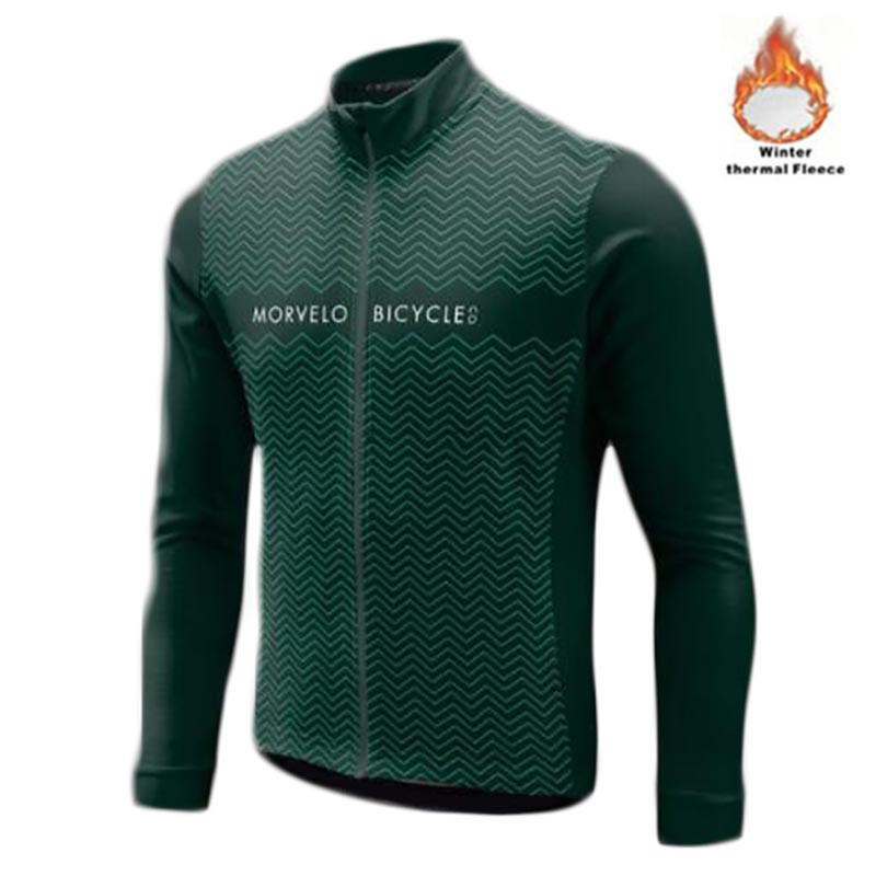 2018 Morvelo Winter Thermal Fleece Cycling Jersey long sleeve Ropa ciclismo hombre Bicycle Wear Bike Clothing maillot Ciclismo