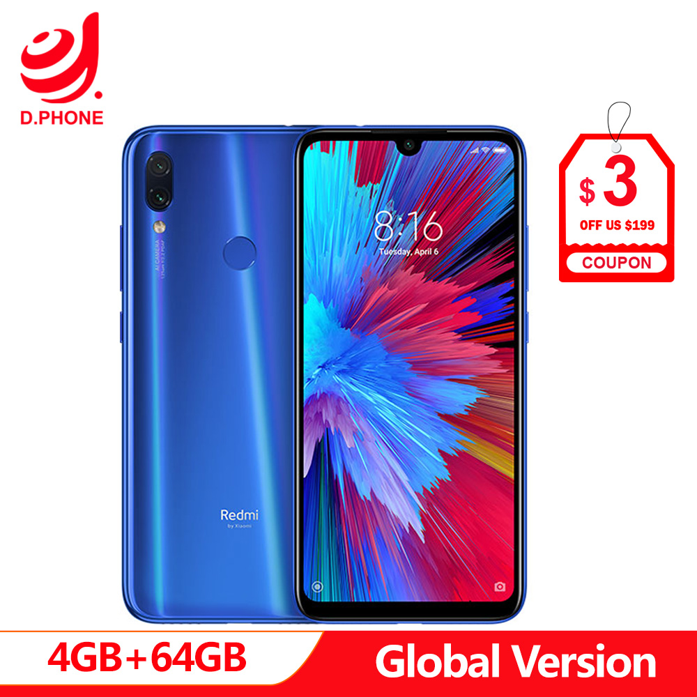 In Stock Global Version Xiaomi Redmi Note 7 6.3 Full Screen Snapdragon 660 AIE 4GB RAM 64GB ROM 4G LTE Smartphone 48MP Phone