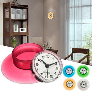 Suction Wall Clock Watch Shower Waterproof Silicone Mirror Timer Sucker Bathroom Decor Wall Clocks for Kids Room Decor Tools(China)