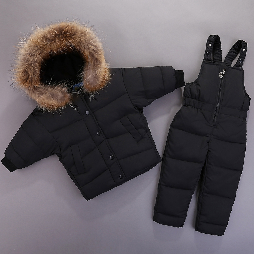 2019 Children Down Clothing Sets 2 PCS Coat+Trousers Winter Kids Suits Boys & Girls Hooded Outerwear Suit Fashion Batwing Sleeve